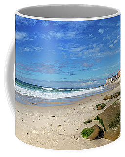 Coffee Mug featuring the photograph Perfect Day At Horseshoe Beach by Peter Tellone