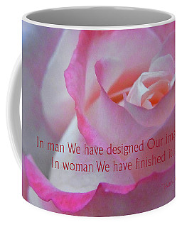 Perfected In Woman Coffee Mug by Agnieszka Ledwon