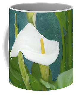Coffee Mug featuring the painting Perfection - Calla Lily Trio by Audrey Jeanne Roberts