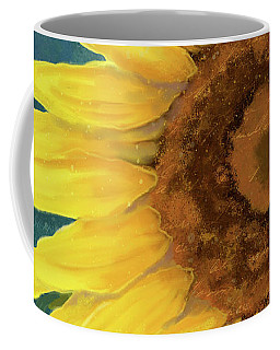 Coffee Mug featuring the painting Perfection - Russian Mammoth Sunflower by Audrey Jeanne Roberts