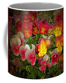 Radiance Pansies Coffee Mug