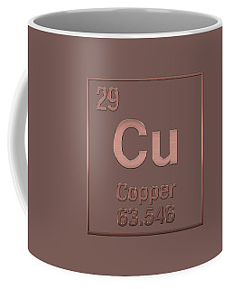Periodic Table Of Elements - Copper - Cu - Copper On Copper Coffee Mug