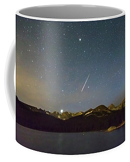 Coffee Mug featuring the photograph Perseid Meteor Shower Indian Peaks by James BO Insogna