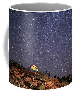 Perseids Over Caprock Canyons Coffee Mug by Melany Sarafis