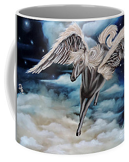 Perseus The Pegasus Coffee Mug by Dianna Lewis
