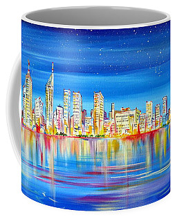 Perth Skyline On The Swan Coffee Mug
