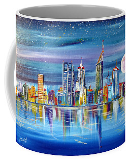 Perth Western Australia Under The Full Moon Coffee Mug