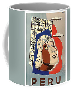 Peru, Traditional Art, Vintage Travel Poster Coffee Mug