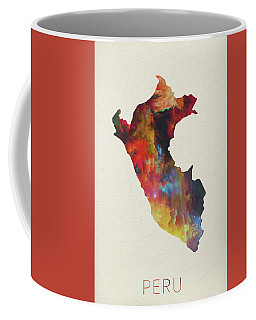 Peru Watercolor Map Coffee Mug