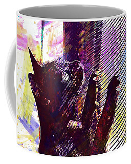 Coffee Mug featuring the digital art Pet Cat Look Kitten  by PixBreak Art