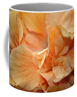 Petal Power. Apricot Hibiscus Macro Coffee Mug