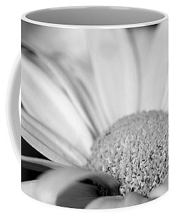 Coffee Mug featuring the photograph Petals - Black And White by Angela Rath