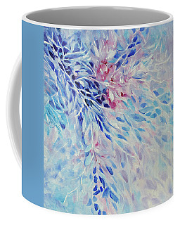 Coffee Mug featuring the painting Petals And Ice by Joanne Smoley