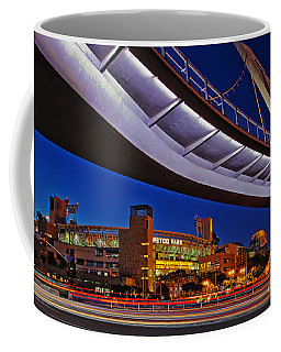 Petco Park And The Harbor Drive Pedestrian Bridge In Downtown San Diego  Coffee Mug