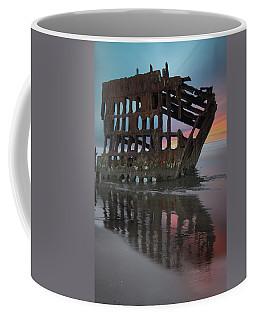 Peter Iredale Shipwreck At Sunrise Coffee Mug