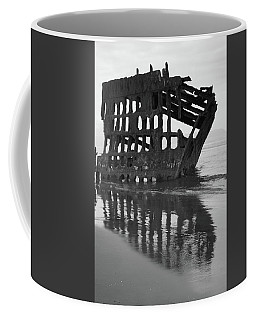 Peter Iredale Shipwreck In Black And White Coffee Mug