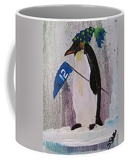 Peter Penquin At The Game Coffee Mug