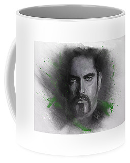 Coffee Mug featuring the drawing Peter Steele, Type O Negative by Julia Art