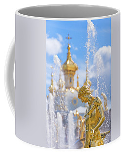 Coffee Mug featuring the photograph Peterhof by Delphimages Photo Creations