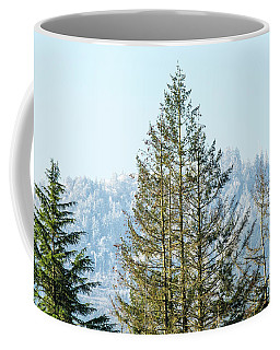 Coffee Mug featuring the photograph Peterson's Butte Winterscape by Nick Boren