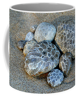 Coffee Mug featuring the photograph Petoskey Stones by SimplyCMB