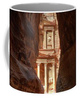 Petra Treasury Revealed Coffee Mug by Nigel Fletcher-Jones