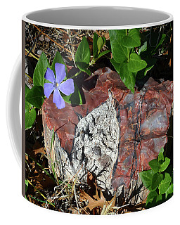 Petrified Wood And Periwinkle Coffee Mug