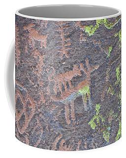 Petroglyph Wolf Attack Coffee Mug