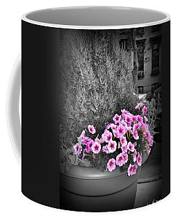 Coffee Mug featuring the photograph Petunias In Brooklyn Circa 2006 by Iowan Stone-Flowers