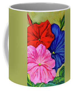 Petunias Mixed Coffee Mug