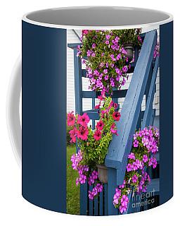 Petunias On Blue Porch Coffee Mug