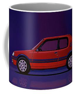 Peugeot 205 Gti 1984 Painting Coffee Mug