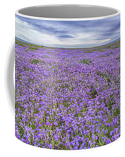 Phacelia Field And Clouds Coffee Mug