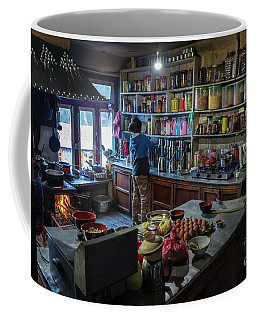 Coffee Mug featuring the photograph Phakding Teahouse Kitchen Morning by Mike Reid