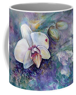 Phalaenopsis Orchid With Hyacinth Background Coffee Mug