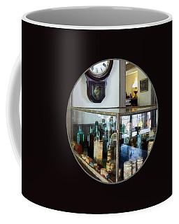 Coffee Mug featuring the photograph Pharmacist - Corner Drug Store by Susan Savad