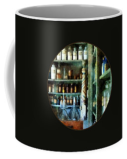 Coffee Mug featuring the photograph Pharmacy - Back Room Of Drug Store by Susan Savad
