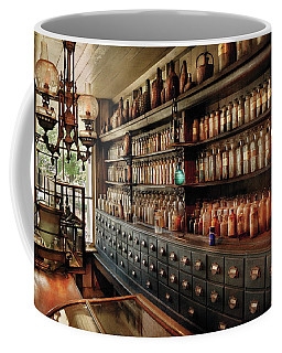 Pharmacy - So Many Drawers And Bottles Coffee Mug by Mike Savad