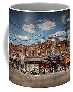 Coffee Mug featuring the photograph Pharmacy - The Corner Drugstore 1910 by Mike Savad