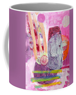 Coffee Mug featuring the painting Phases by Mary Schiros