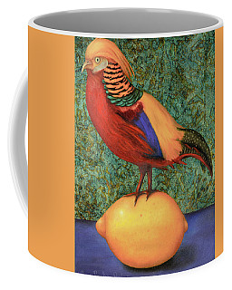 Pheasant On A Lemon Coffee Mug