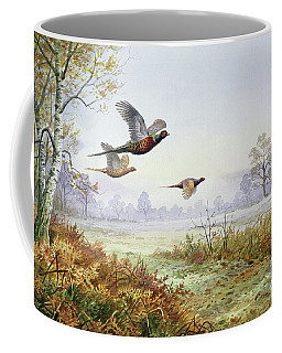Pheasants In Flight  Coffee Mug