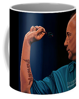 Phil Taylor The Power Coffee Mug by Paul Meijering