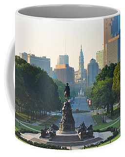 Philadelphia Benjamin Franklin Parkway Coffee Mug