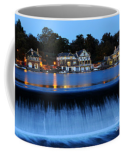 Philadelphia Boathouse Row At Twilight Coffee Mug