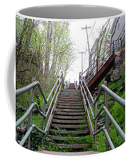 Coffee Mug featuring the photograph Philadelphia - Roxborough Avenue Steps by Bill Cannon