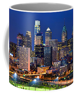 Philadelphia Skyline At Night Coffee Mug