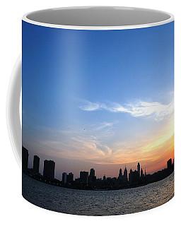 Philadelphia Skyline Low Horizon Sunset Coffee Mug
