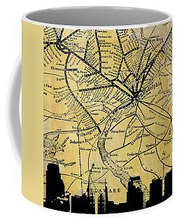 Philadelphia Skyline Map Coffee Mug
