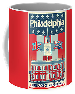 Philadelphia Poster - Independence Hall Coffee Mug